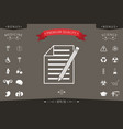sheet of paper and pencil icon vector image