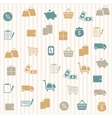 shopping seamless pattern vector image vector image