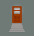 staircase to the door behind which light vector image