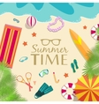 summer vecetion time background concept vector image