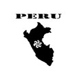 symbol of isle of peru and map vector image vector image