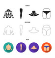 torso leg neck and buttocks body parts set vector image vector image