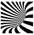 tunnel vortex in concentric black and white stripe vector image vector image