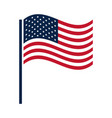 united states elections waving flag national vector image vector image