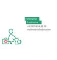 Veterinarian business card vector image vector image