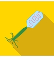 Virus bacteria microbe icon flat style vector image vector image