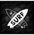 white chalk crossing surfing boards vector image