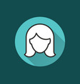 woman icon for graphic and web design vector image