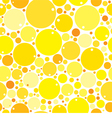 Yellow Mix Circles Background vector image