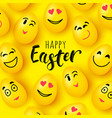 happy easter greeting card funny eggs vector image