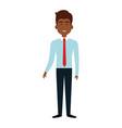 elegant businessman black avatar character vector image