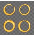 Grunge golden circle border set vector image