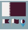 Qatarcountry flag vector image