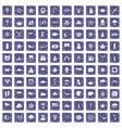 100 star icons set grunge sapphire vector image vector image