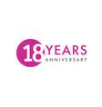 18 years logo