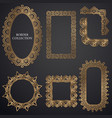 art-deco ornamental frame vector image vector image