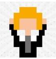 avatar person pixel design vector image