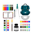 back to school object equipment vector image