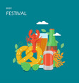 beer festival flat style design vector image vector image