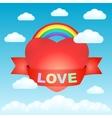 big love heart in sky vector image