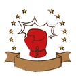 boxing glove icon vector image vector image
