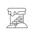 brick chimney line icon concept brick chimney vector image vector image