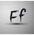 calligraphic hand-drawn marker or ink letter F vector image vector image