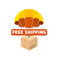 cartoon color free shipping concept flat design vector image