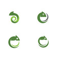 chameleon icon silhouette vector image vector image