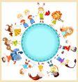 Children horoscope vector image