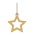 christmas star decorative icon vector image vector image