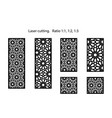 cnc set decorative panels for laser vector image vector image