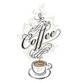 coffee cup of Baroque vector image