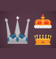 collection of crown icons awards for winners vector image vector image