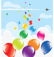 Colorful balloons in the sky vector | Price: 1 Credit (USD $1)