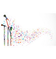 colorful music notes background isolated on white vector image vector image