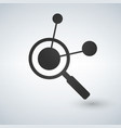 connection search icon magnifying glass molecular vector image
