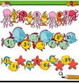 counting to ten task for preschool children vector image