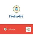 creative protected sheild logo design flat color vector image