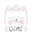 cute cat meow vector image