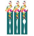 Cutlery contemporary pattern vector image