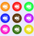 Diving mask icon sign Big set of colorful diverse vector image