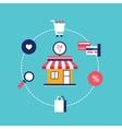 E-commerce concept Online shopping Modern flat vector image vector image