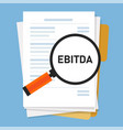 ebitda earnings before interest tax depreciation vector image