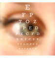 Eye test vision chart blurred effect vector image