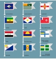 Flags set four-17 vector image vector image