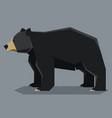 flat polygonal american bleck bear vector image vector image