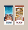 flyer template with landscape in autumn design vector image vector image
