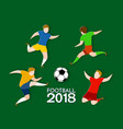 football players 2018 paper cut style vector image
