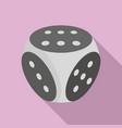 fortune dice icon flat style vector image vector image